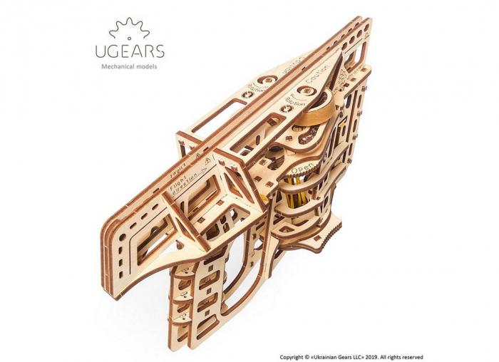 Puzzle 3D Flight Starter din lemn Ugears 18