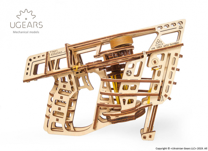 Puzzle 3D Flight Starter din lemn Ugears 19