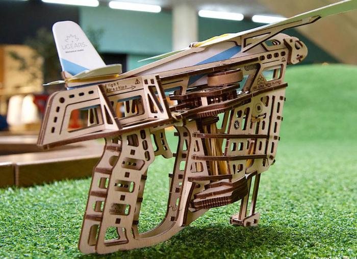 Puzzle 3D Flight Starter din lemn Ugears 3