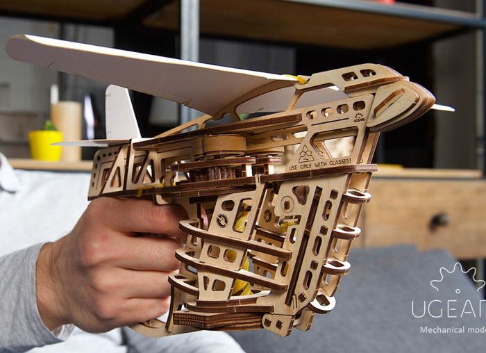 Puzzle 3D Flight Starter din lemn Ugears 4
