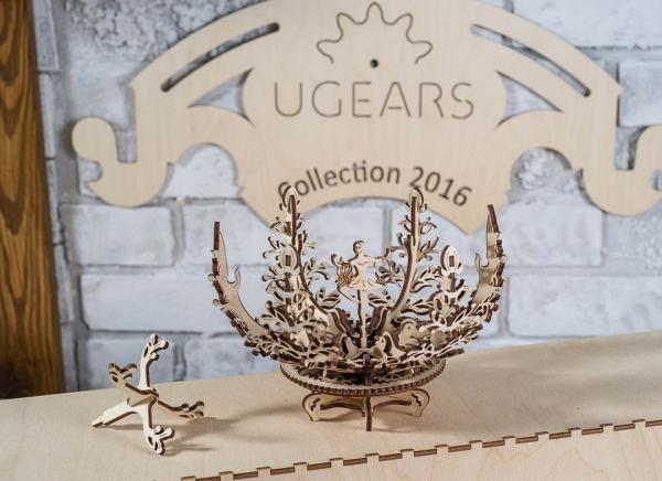Puzzle 3D Floare din Lemn Ugears [2]