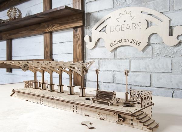 Puzzle 3D Gara din Lemn Ugears [8]