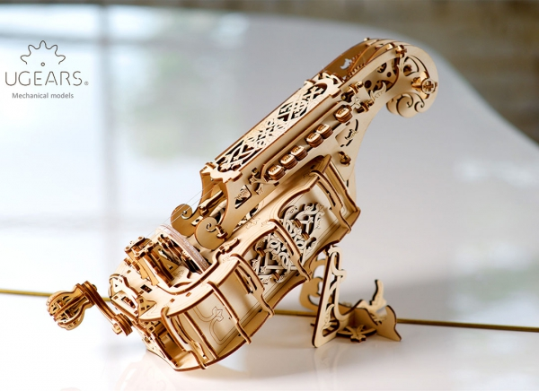 Puzzle 3D Instrument Muzical - Vioara din Lemn Ugears [3]