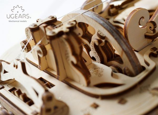 Puzzle 3D Instrument Muzical - Vioara din Lemn Ugears [17]