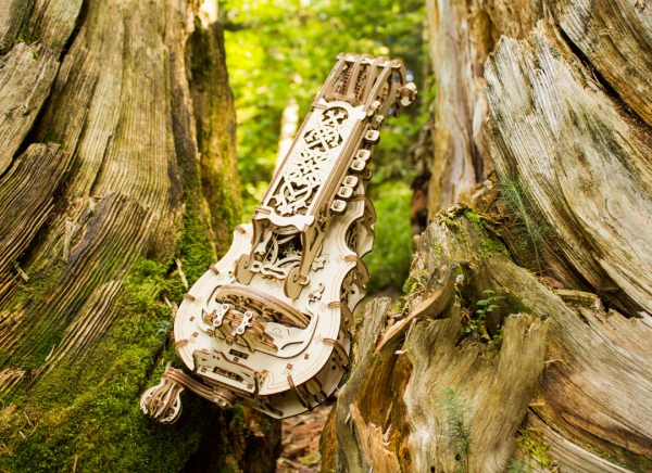 Puzzle 3D Instrument Muzical - Vioara din Lemn Ugears [14]