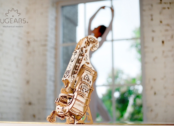 Puzzle 3D Instrument Muzical - Vioara din Lemn Ugears [6]