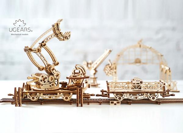 Puzzle 3D Macara pe Sine din Lemn Ugears 26