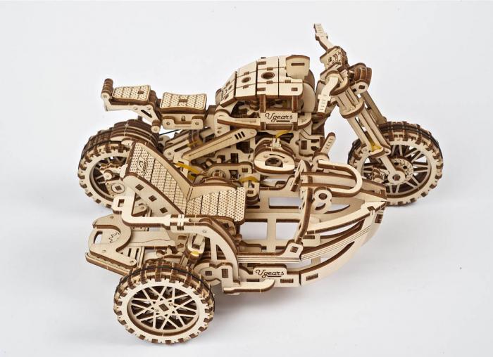 Puzzle 3D Motocicleta Scrambler UGR-10 din lemn Ugears 4