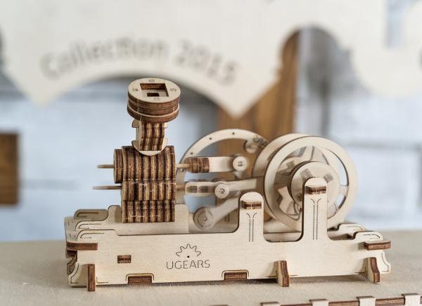 Puzzle 3D Motor Pneumatic din Lemn Ugears 7