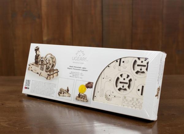 Puzzle 3D Motor Pneumatic din Lemn Ugears 12