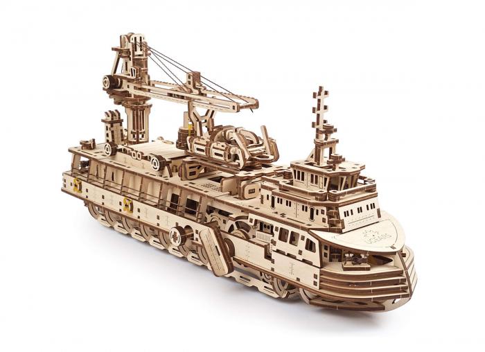 Puzzle 3D Nava de cercetare din lemn Ugears 1