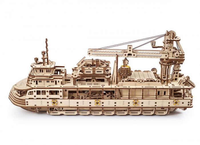 Puzzle 3D Nava de cercetare din lemn Ugears 2