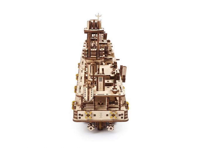 Puzzle 3D Nava de cercetare din lemn Ugears 4