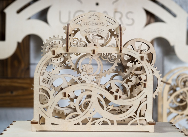Puzzle 3D Teatru Mecanic din Lemn Ugears 3