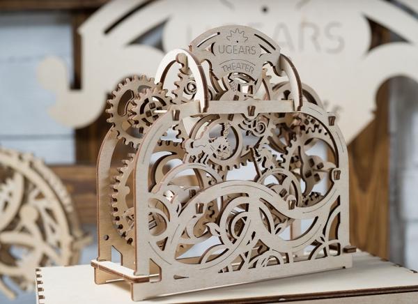 Puzzle 3D Teatru Mecanic din Lemn Ugears 6