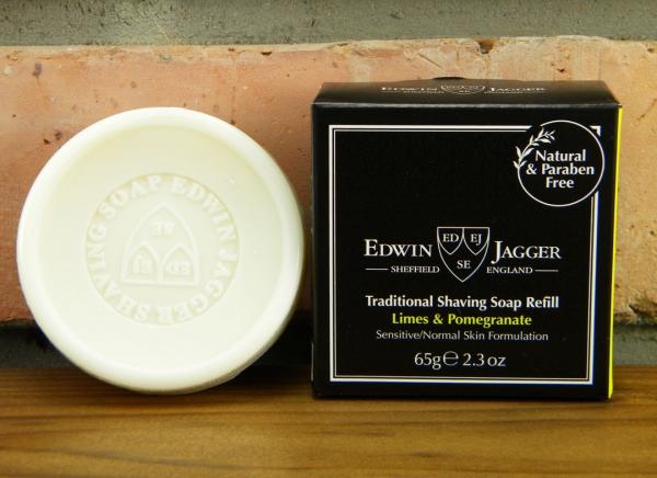 Sapun pentru barbierit Limes & Pomegranate 65G, Edwin Jagger 0