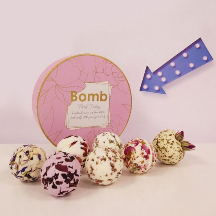 Set cadou sare de baie 7 arome Floral Fantasy, Bomb Cosmetics 3