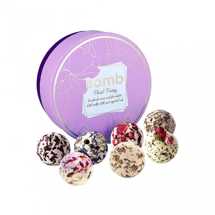 Set cadou sare de baie 7 arome Floral Fantasy, Bomb Cosmetics 4