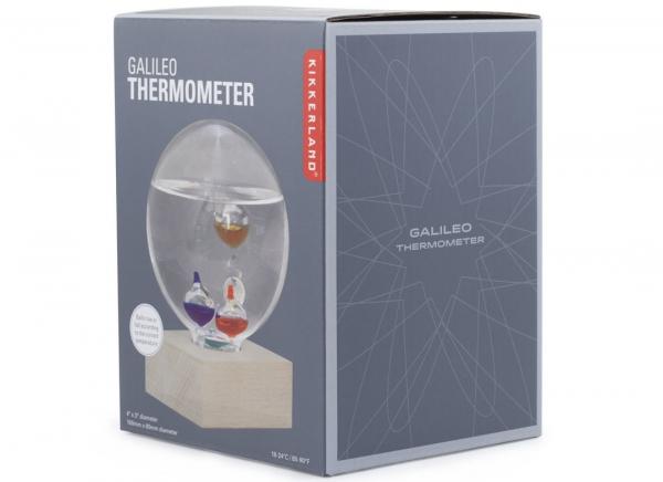 Termometru Galileo cu suport de fag 2