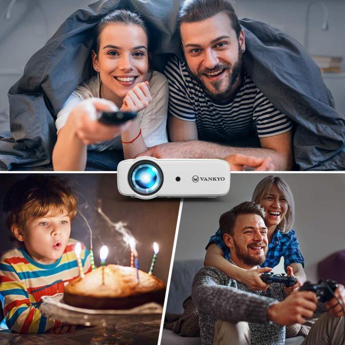 Videoproiector LED Vankyo Leisure 430, 4000 Lumeni, Geanta transport si telecomanda 1