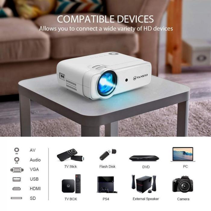 Videoproiector LED Vankyo Leisure 430, 4000 Lumeni, Geanta transport si telecomanda 2