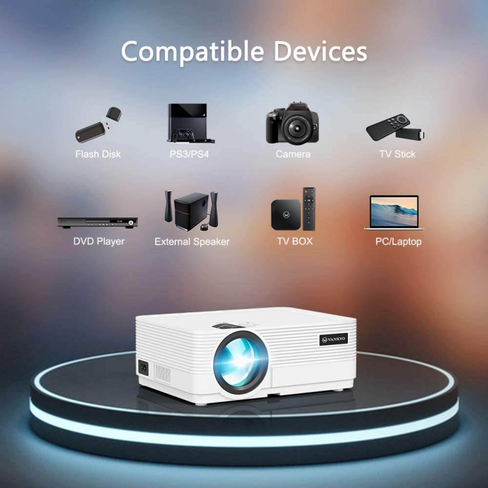 Videoproiector LED Vankyo Leisure 470, 4000 Lumeni, Geanta transport si telecomanda 1