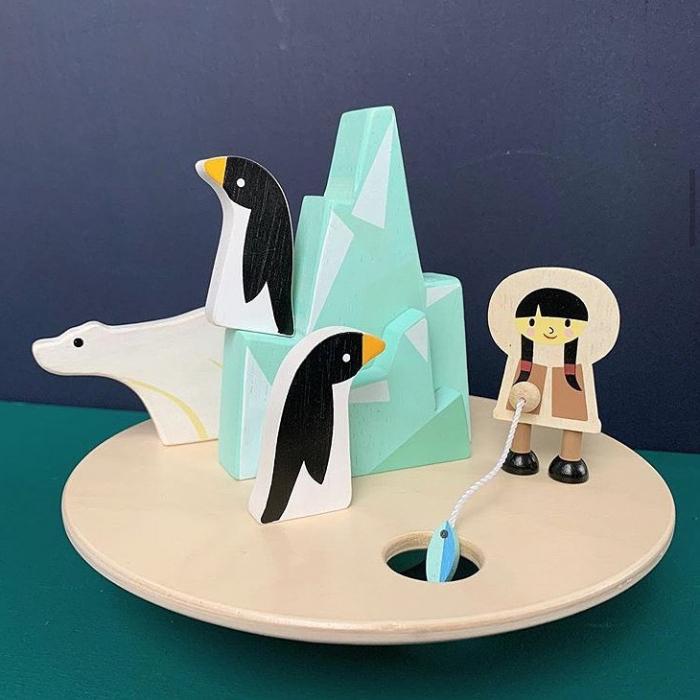 Aisberg plutitor jucarie din lemn educativa, 9 piese 0