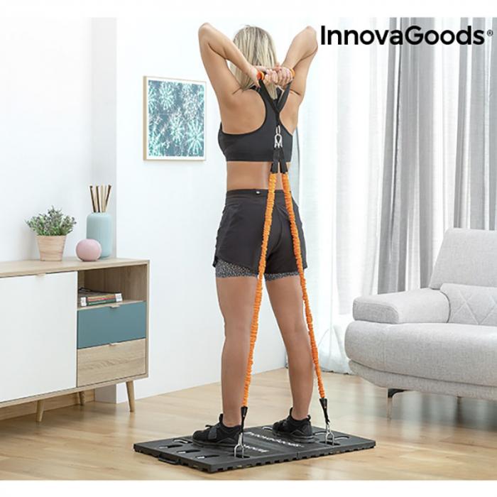 Aparat fitness multifunctional, cu ghid exercitii si geanta voiaj 6