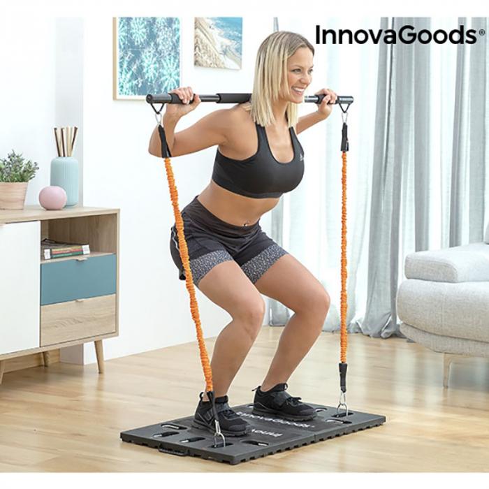 Aparat fitness multifunctional, cu ghid exercitii si geanta voiaj 3