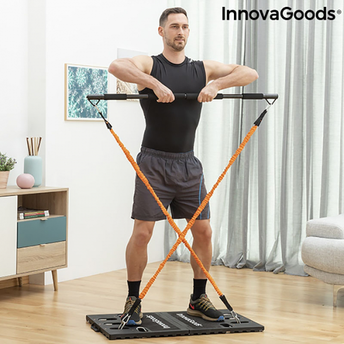 Aparat fitness multifunctional, cu ghid exercitii si geanta voiaj 1