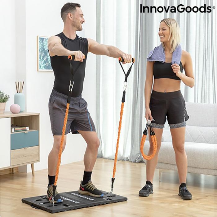Aparat fitness multifunctional, cu ghid exercitii si geanta voiaj 0