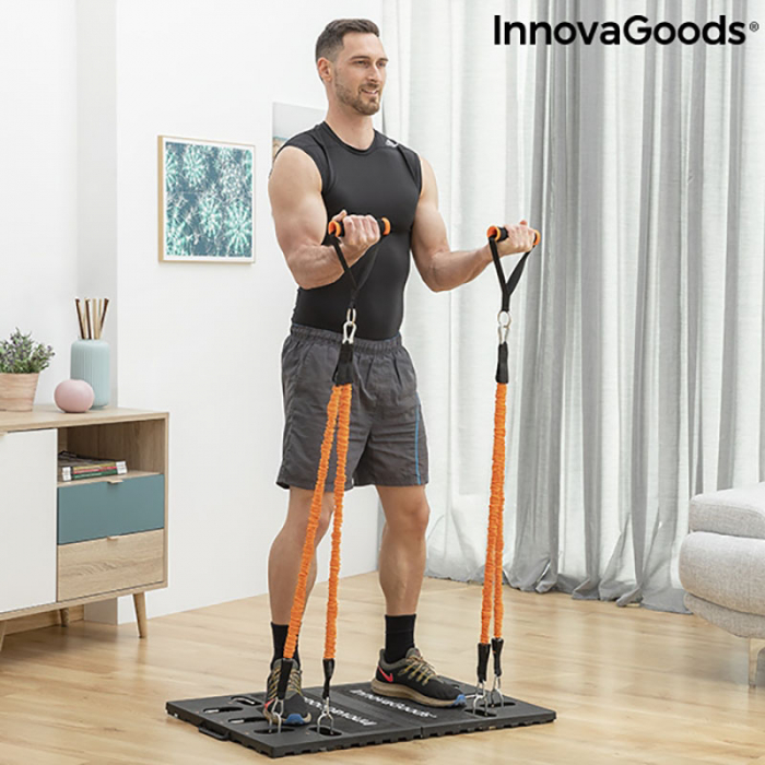 Aparat fitness multifunctional, cu ghid exercitii si geanta voiaj 2