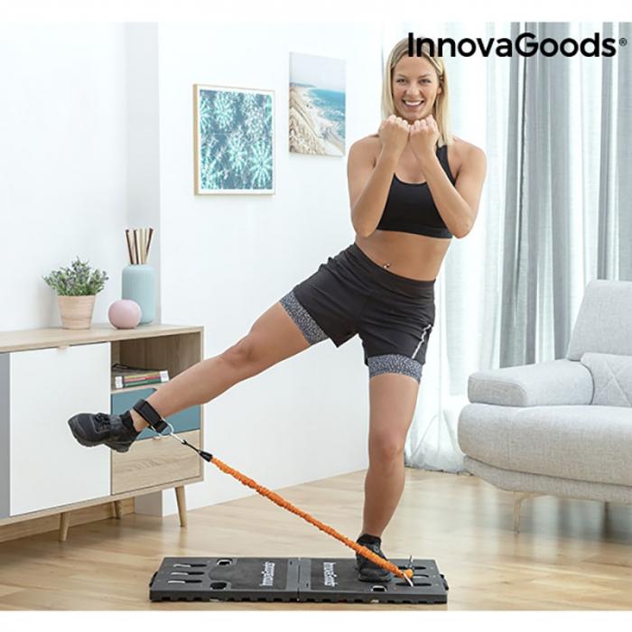 Aparat fitness multifunctional, cu ghid exercitii si geanta voiaj 5