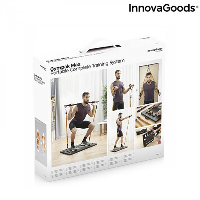 Aparat fitness multifunctional, cu ghid exercitii si geanta voiaj 14