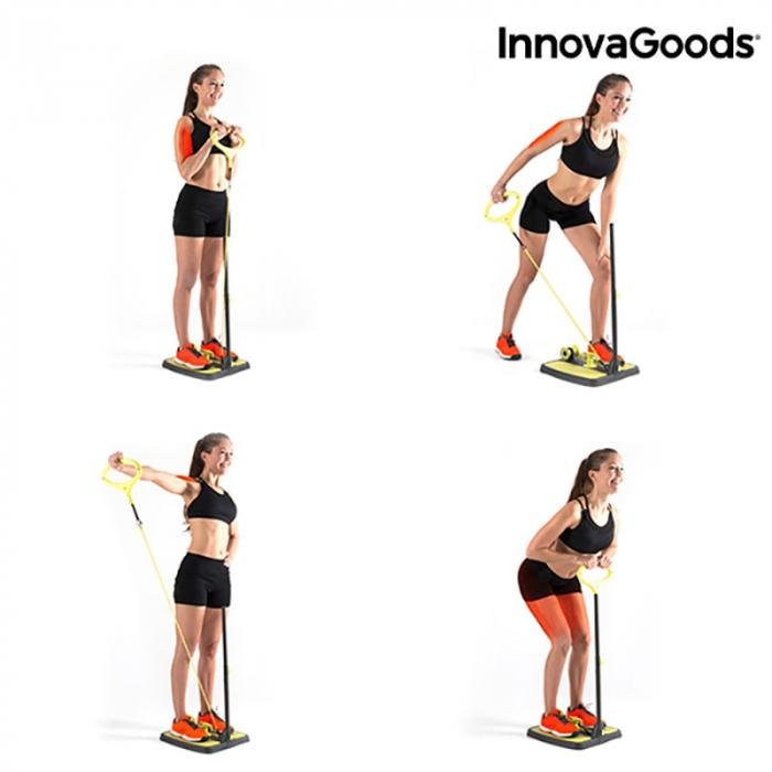 Aparat fitness pentru picioare si muschi fesieri cu ghid de exercitii 4