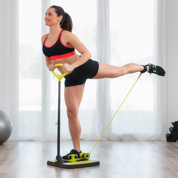 Aparat fitness pentru picioare si muschi fesieri cu ghid de exercitii [0]