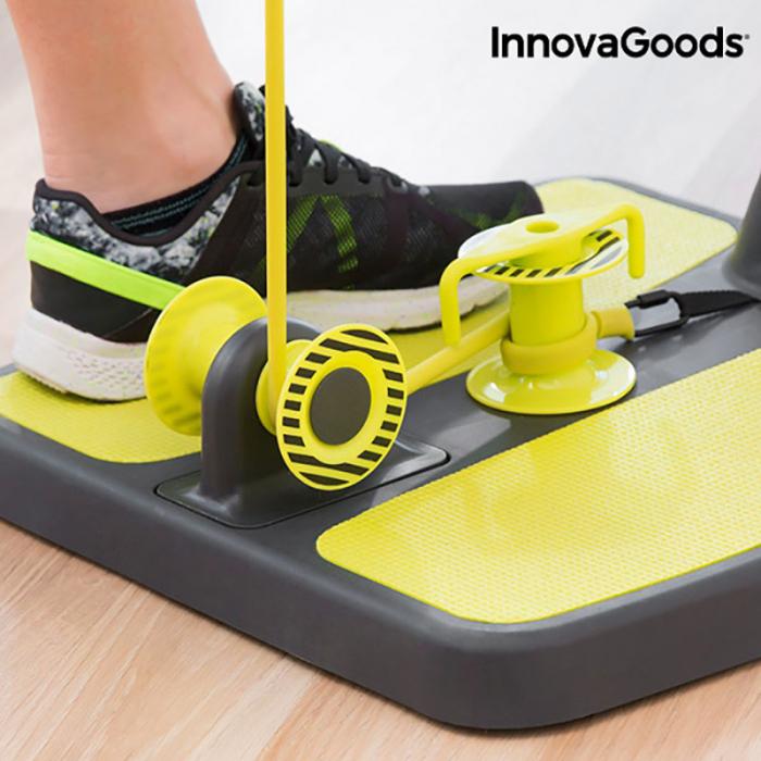 Aparat fitness pentru picioare si muschi fesieri cu ghid de exercitii 1