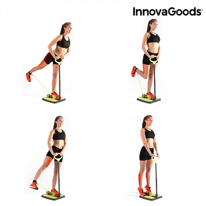Aparat fitness pentru picioare si muschi fesieri cu ghid de exercitii 3