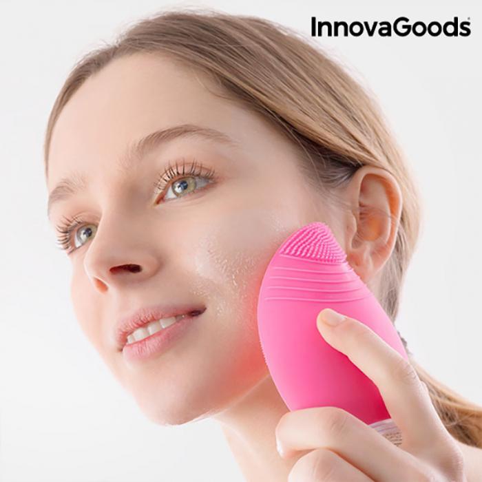 Aparat masaj si curatare faciala Pinky, din silicon 1