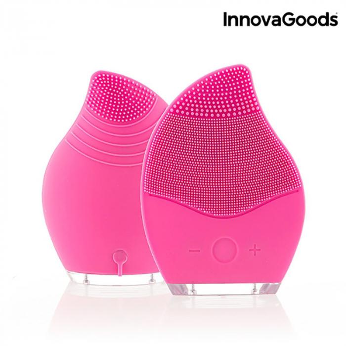 Aparat masaj si curatare faciala Pinky, din silicon 4