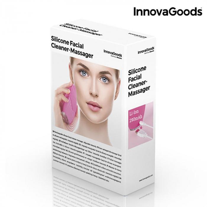 Aparat masaj si curatare faciala Pinky, din silicon 5