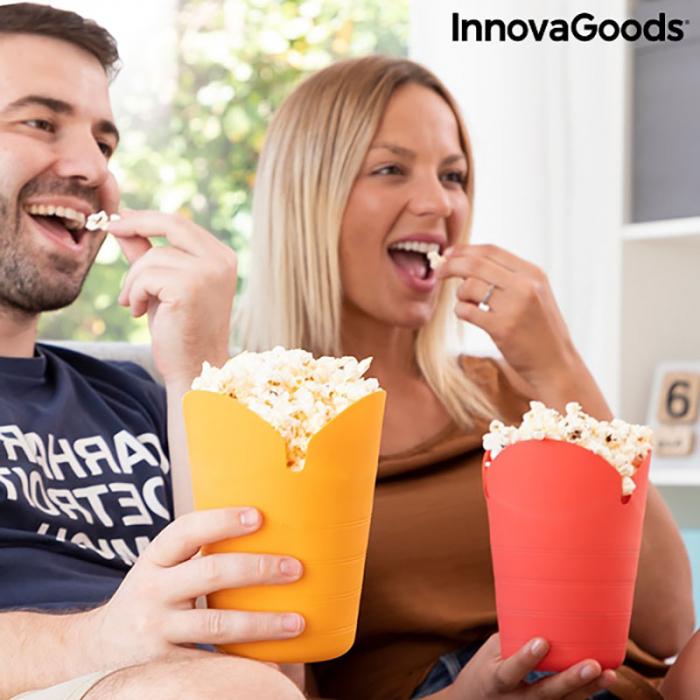 Aparat popcorn fara ulei, Popbox pliabil, din silicon 0