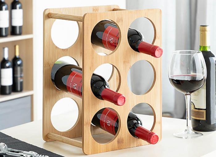 Bamboo Rack pentru 6 sticle de vin 0
