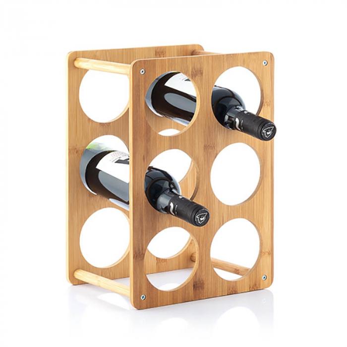 Bamboo Rack pentru 6 sticle de vin 2