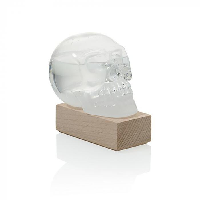Barometru Craniu cu stativ din lemn [3]