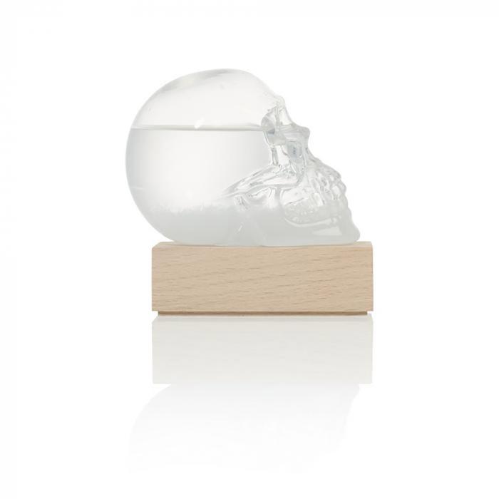 Barometru Craniu cu stativ din lemn [4]
