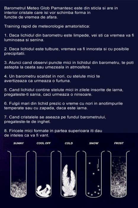 Barometru Meteo de Birou 9