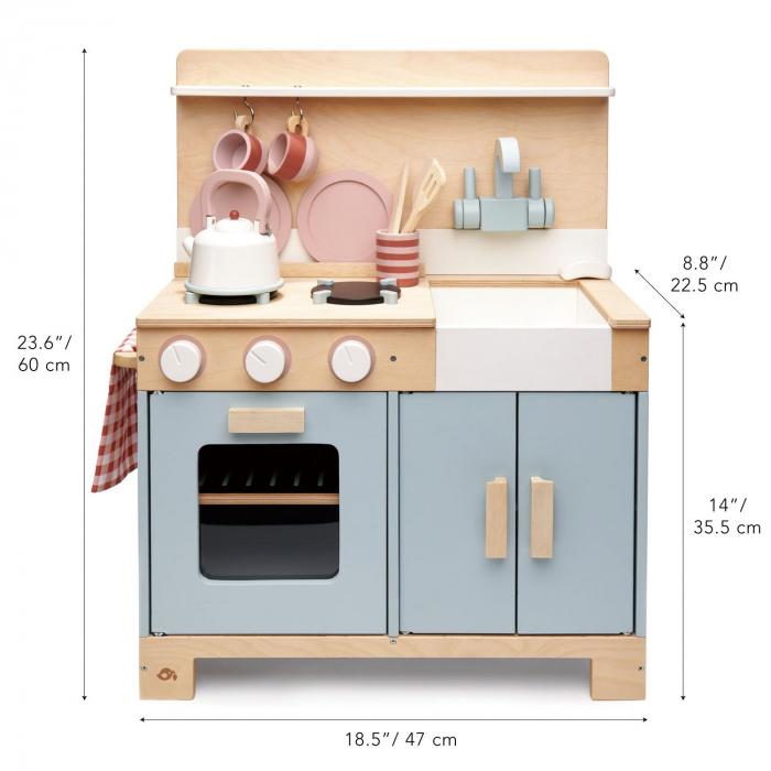 Bucatarie din lemn pentru copii, Mini Chef Home Kitchen, 16 piese 5