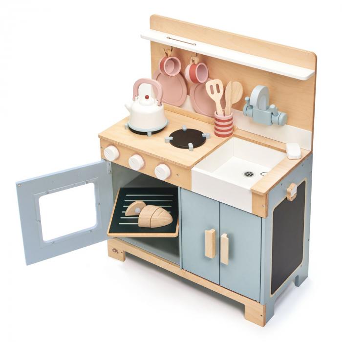 Bucatarie din lemn pentru copii, Mini Chef Home Kitchen, 16 piese 4