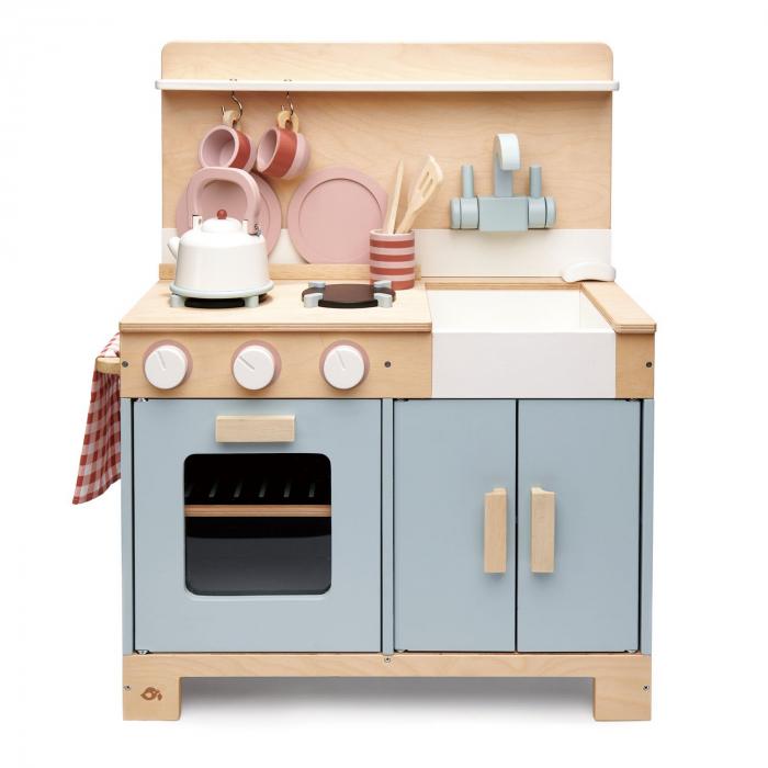 Bucatarie din lemn pentru copii, Mini Chef Home Kitchen, 16 piese 3